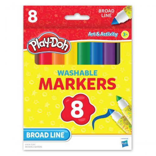Playdoh 8-count Washable Broadline Markers