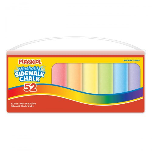 Playskool 52 Count Washable Super Bucket Sidewalk Chalk