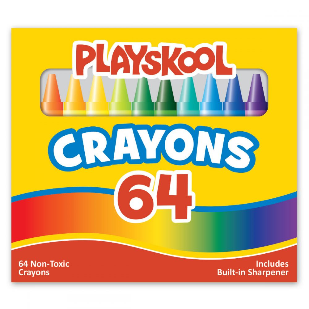 Playskool 64 Count Crayons In Box With Sharpener