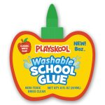 Playskool Washable 8 Oz Apple-shaped School Glue