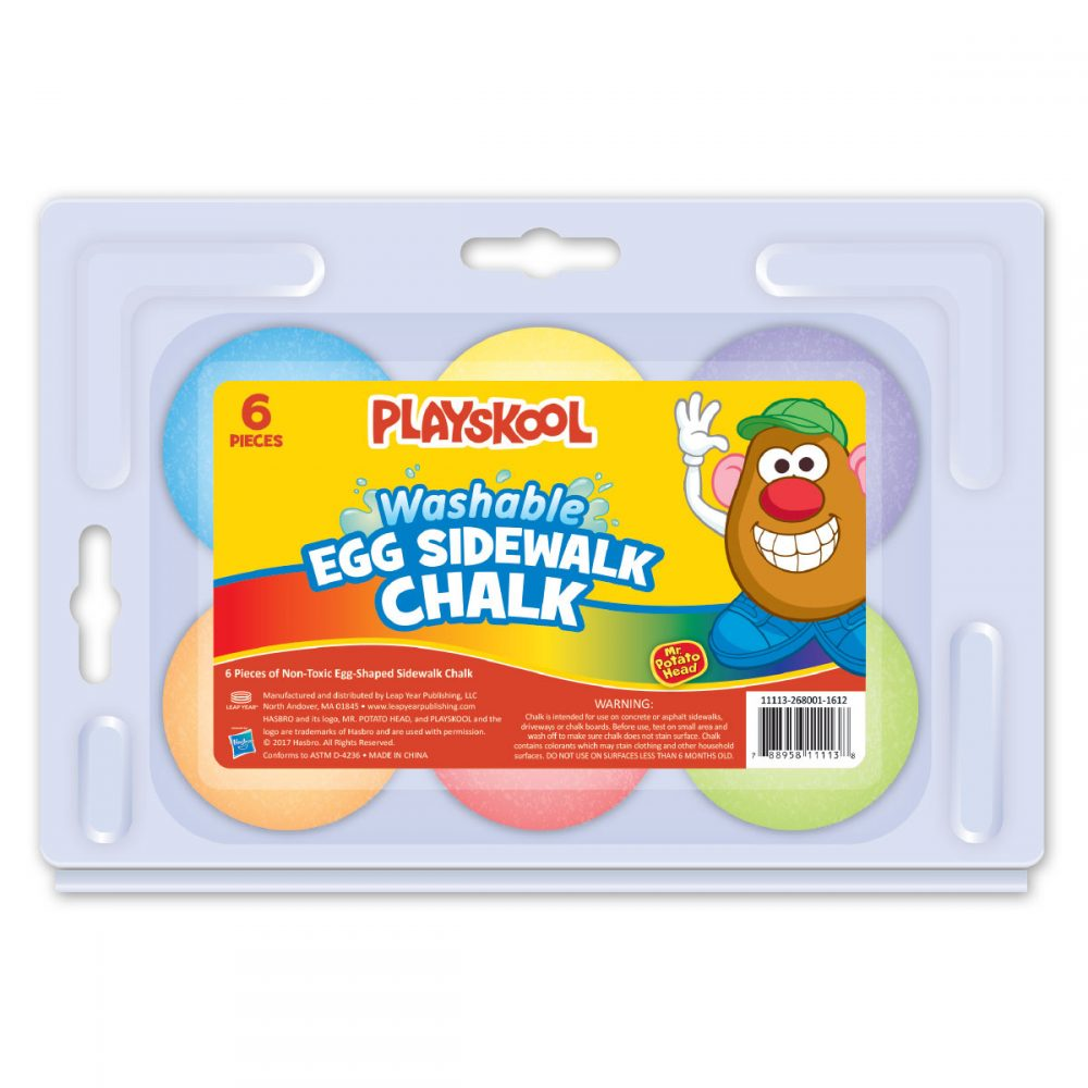 Playskool Mr. Potato Head 6-count Egg Shaped Sidewalk Chalk