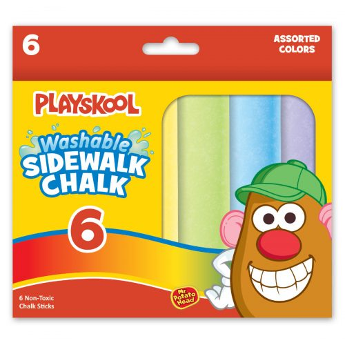 Playskool 6 Count Washable Sidewalk Chalk