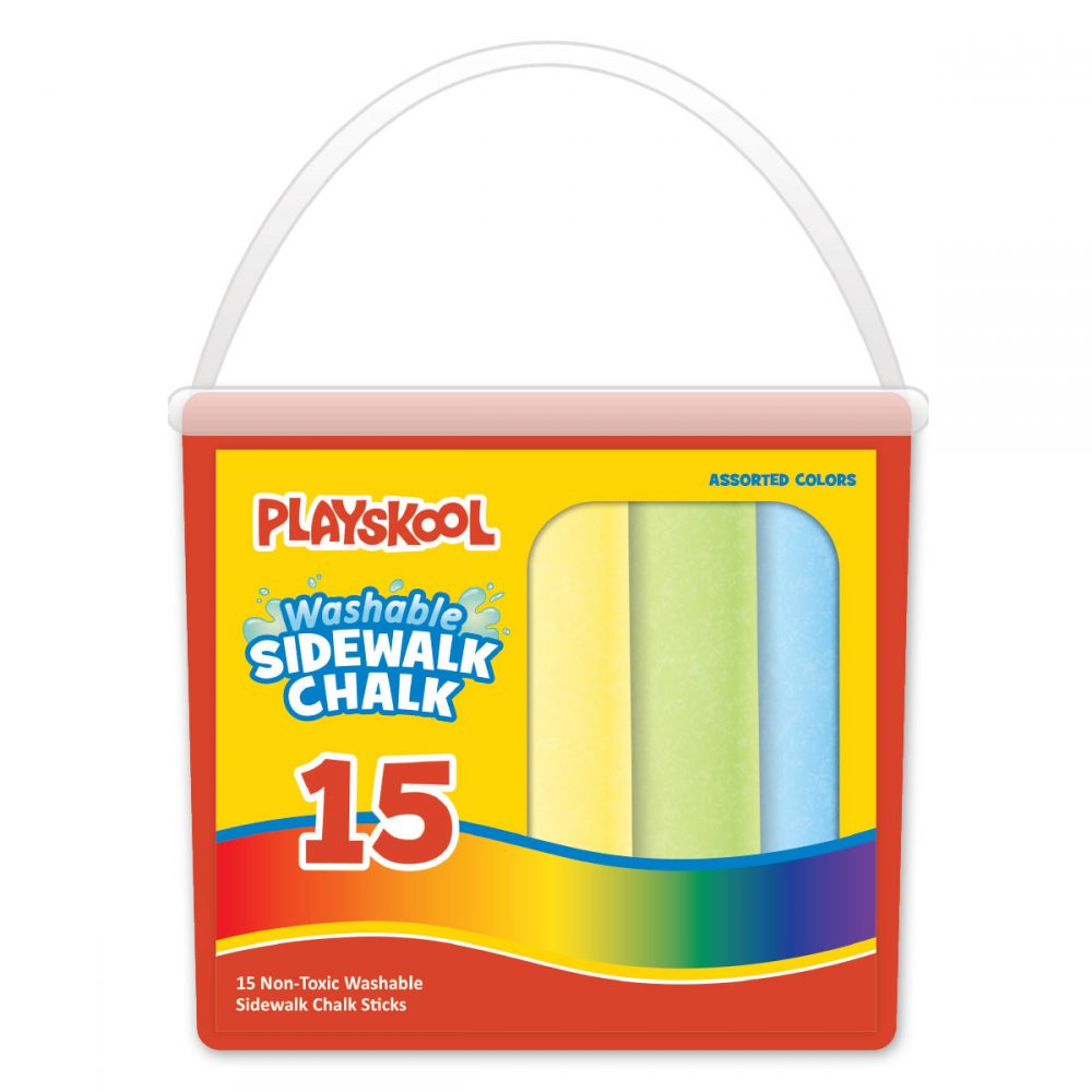 Playskool 15 Count Washable Sidewalk Chalk