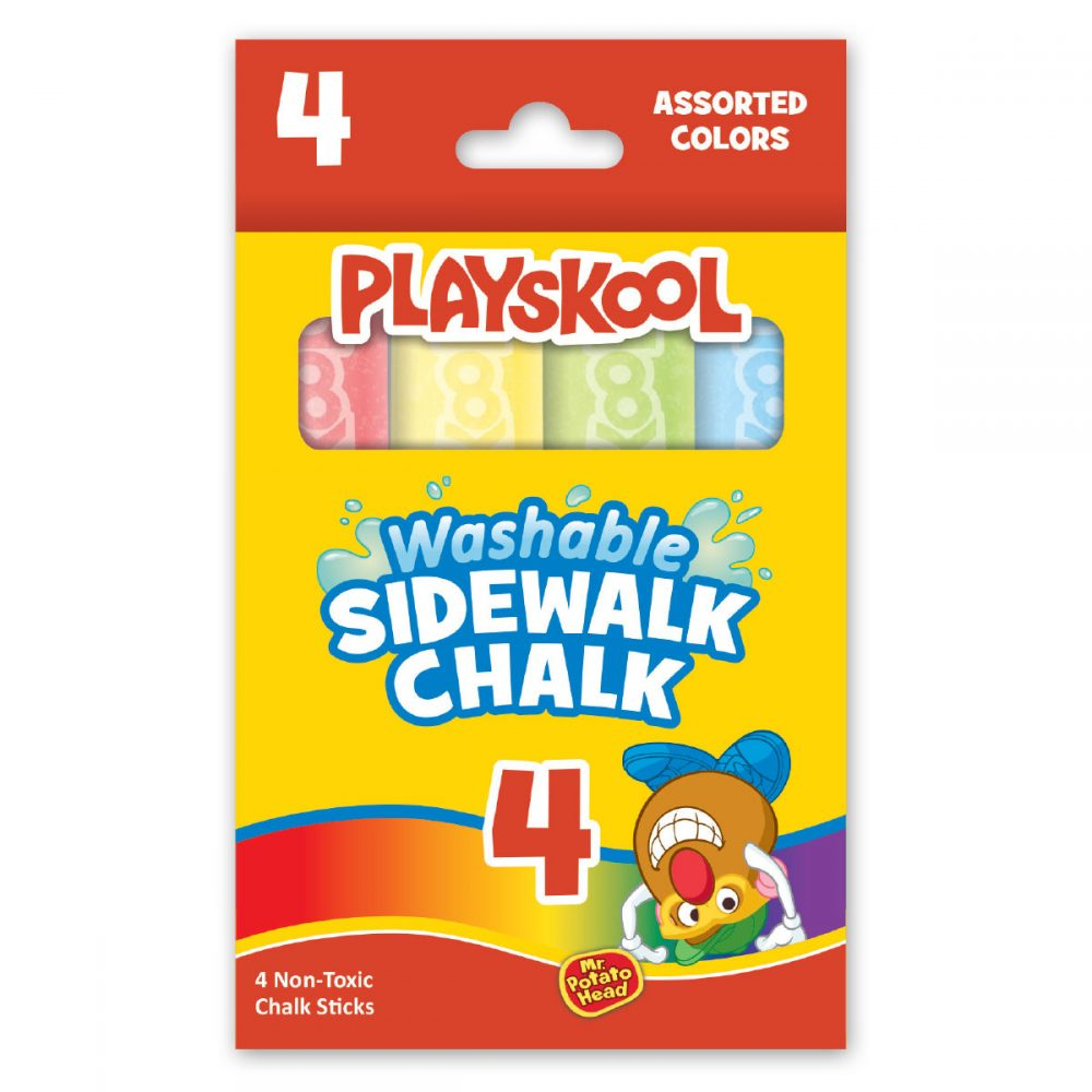 Playskool 4 Count Washable Sidewalk Chalk In Box