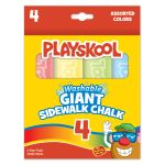 Playskool 4 Count Washable Giant Sidewalk Chalk