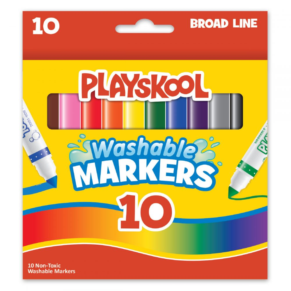 Playskool 10-count Washable Broad Line Markers