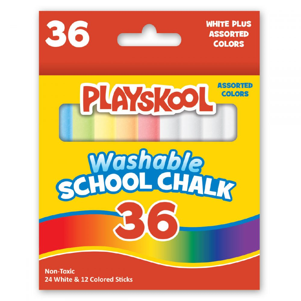 Playskool 36 Count Washable Colored And White Chalk