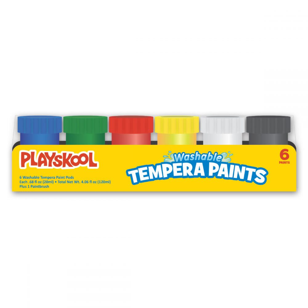 Playskool 6-count Washable Tempera Paints With Brush