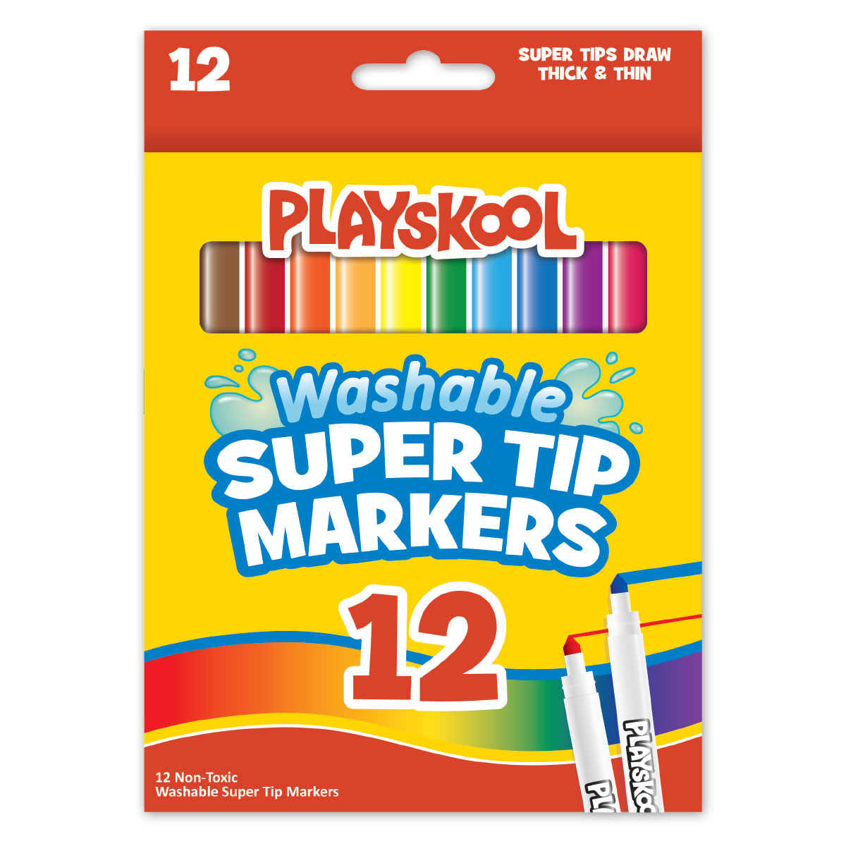 8 Washable Markers 36 Non-Toxic Crayons Leap Year Publishing Playskool Washable Markers and Crayons Art Set