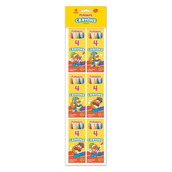 Playskool 6 Pk - 4 Count Crayons