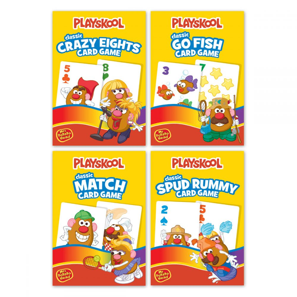 Playskool 4 Pack Game Cards In Embossed Tin