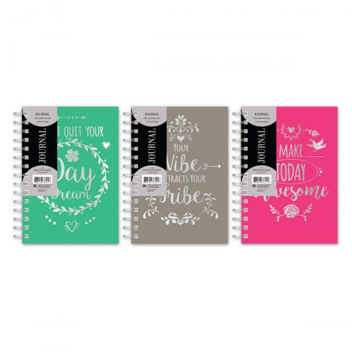 Paperworks Coil Bound Foil Leatherette Journal Assortment
