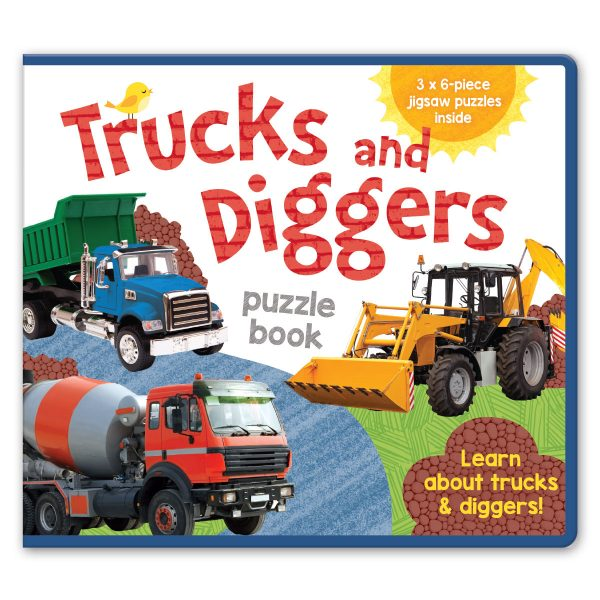 Leap Year Press Trucks And Diggers Foam Jigsaw Book