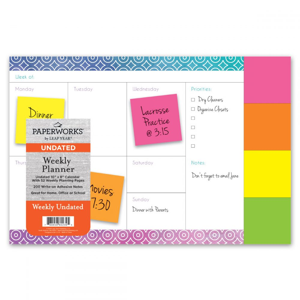 Paperworks Undated Adhesive Notes Blotter
