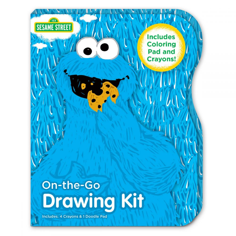 Small Cookie Monster drawing kit