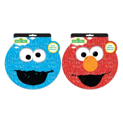 Sesame Street sticker books-Elmo and Cookie Monster