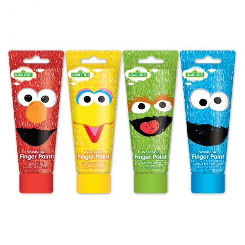 Sesame Street finger paints