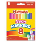 Box of neon markers
