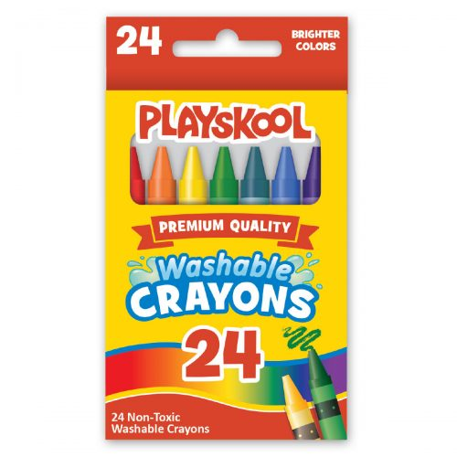 Photo of a box of Playskool crayons