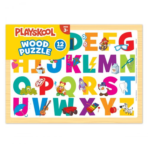 Picture of a wooden alphabet puzzle