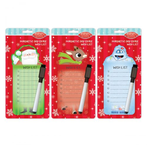 Rudolph dry erase wishlist assortment