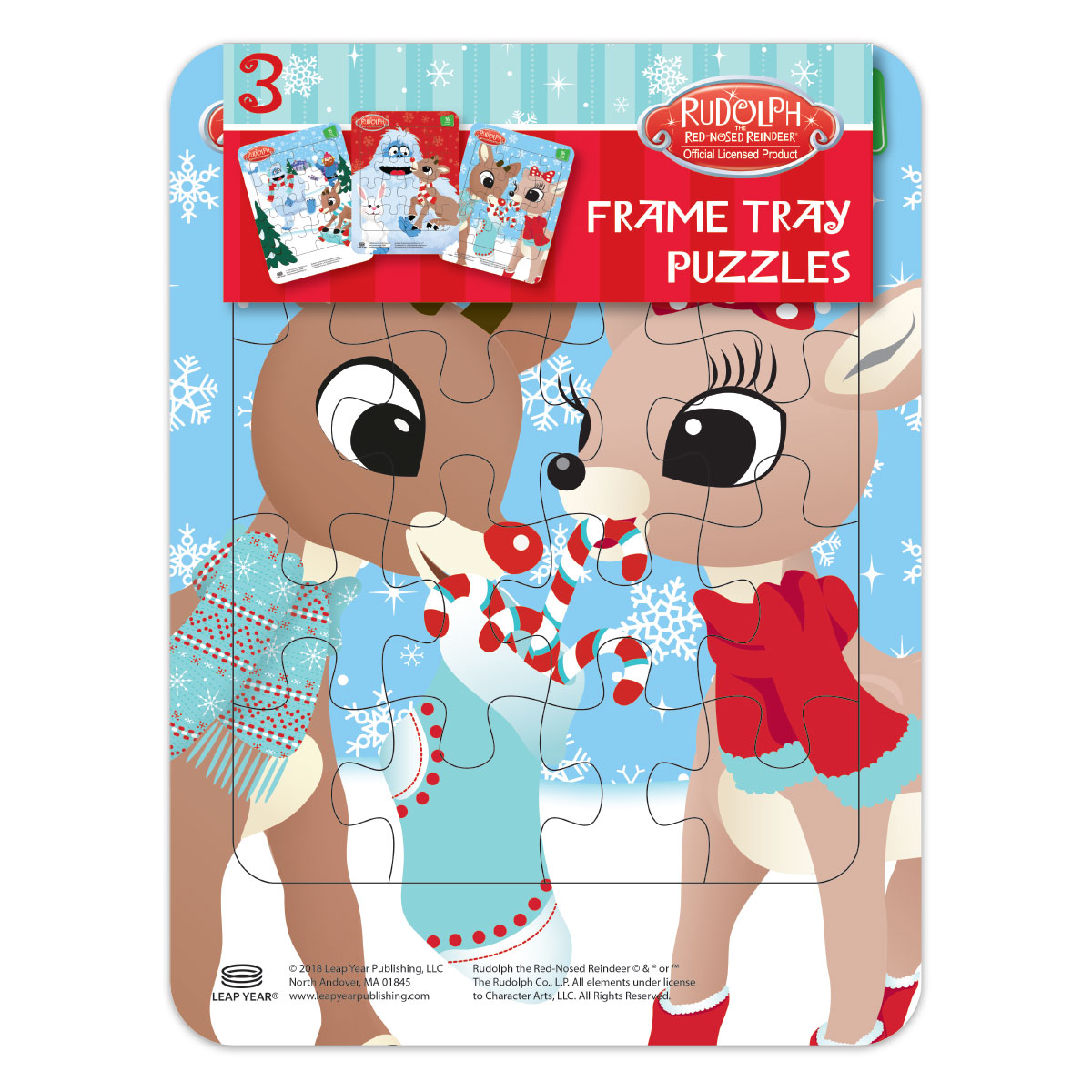 Rudolph frame tray puzzles