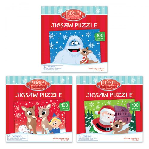 3 jigsaw puzzle boxes