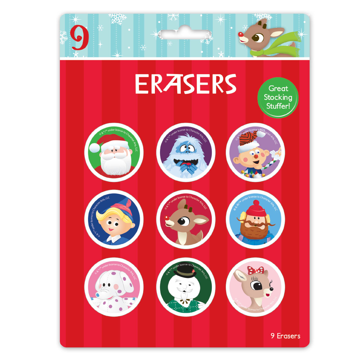Pack of Rudolph erasers