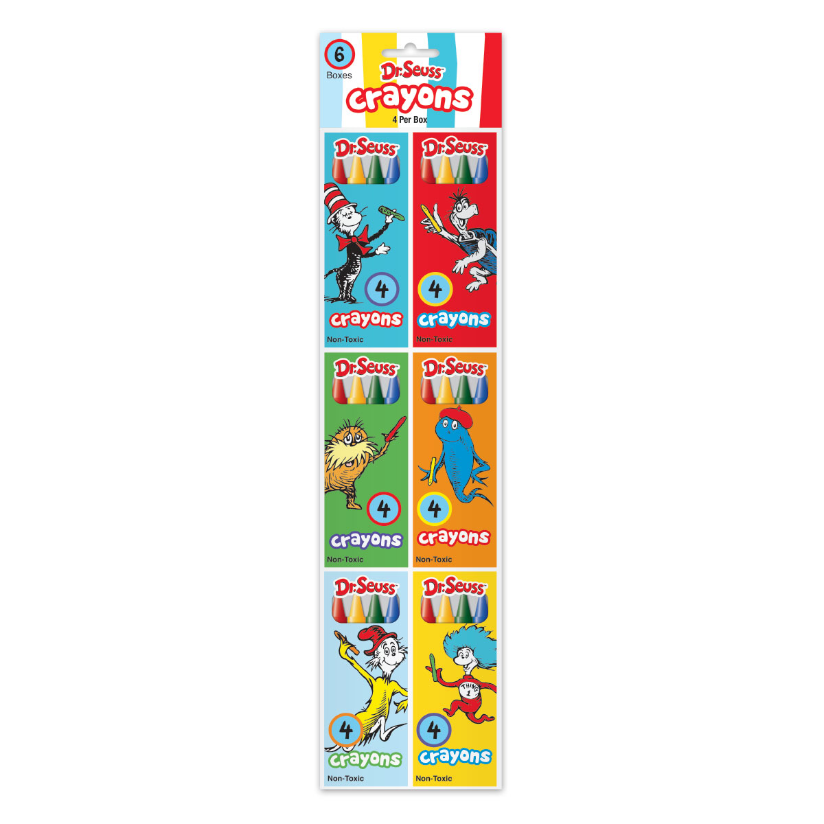 Dr. Seuss 6-Pack of 4-Count Crayons