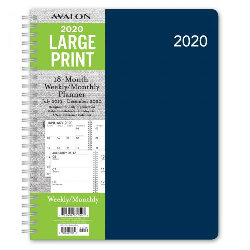 Avalon Large Print 2020 Planner - Blue
