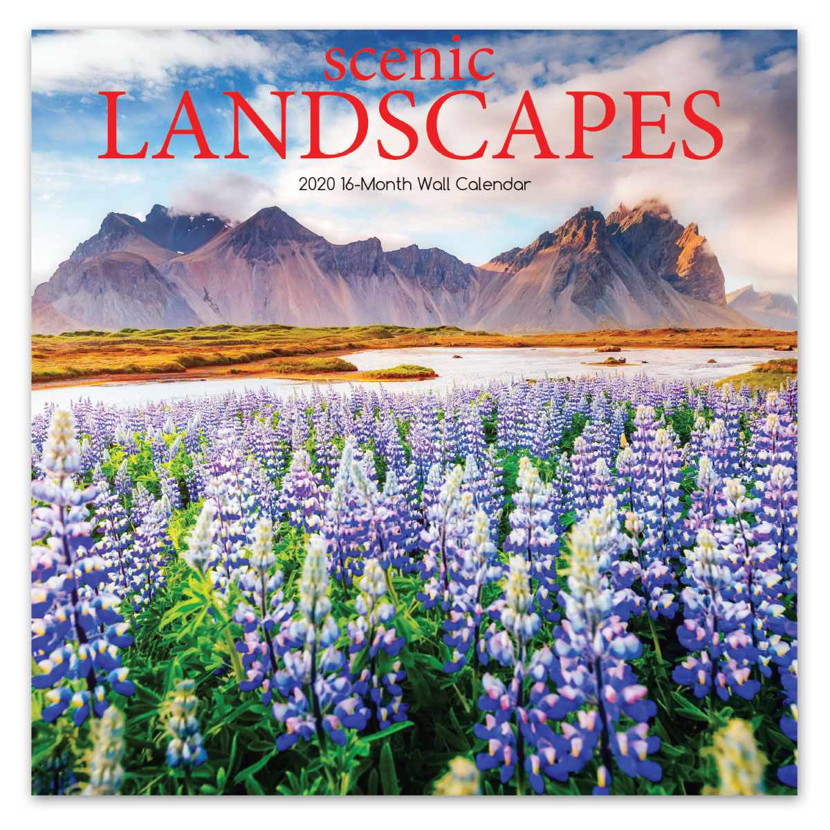 Scenic Landscapes Wall Calendar - Front