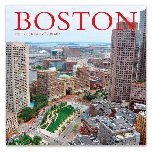 Boston wall calendar front