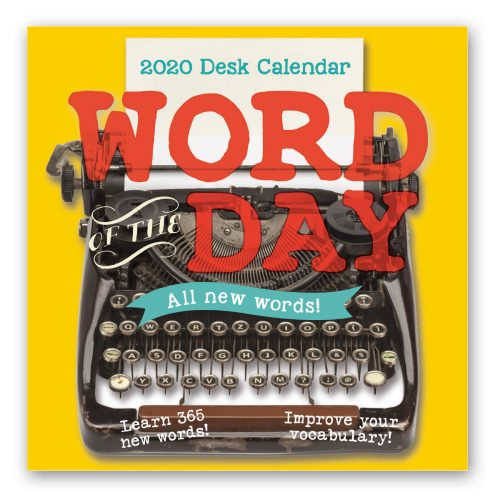 2020 Desk Calendar - Word Hunt