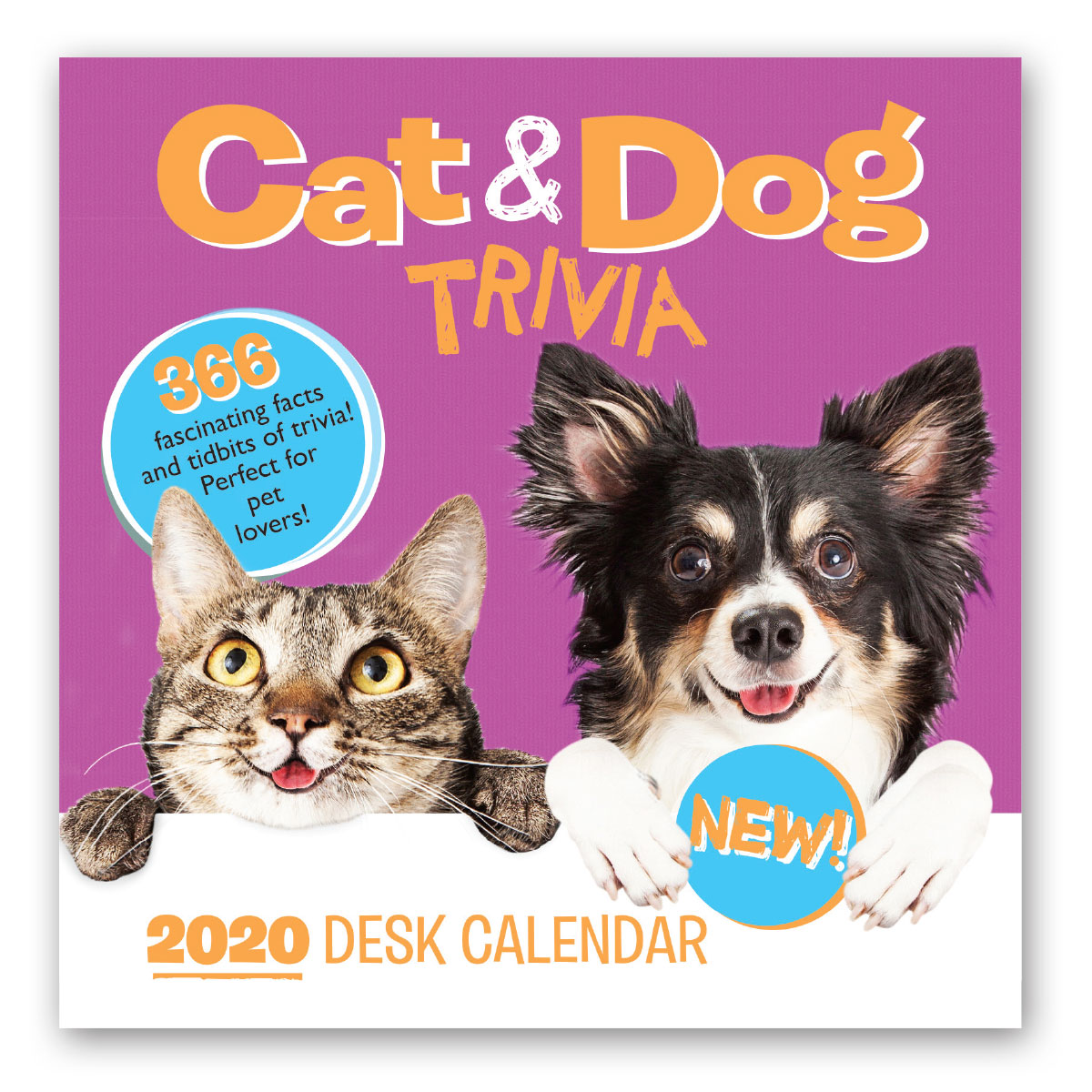 2020 Desk Calendar - Cat & Dog Trivia