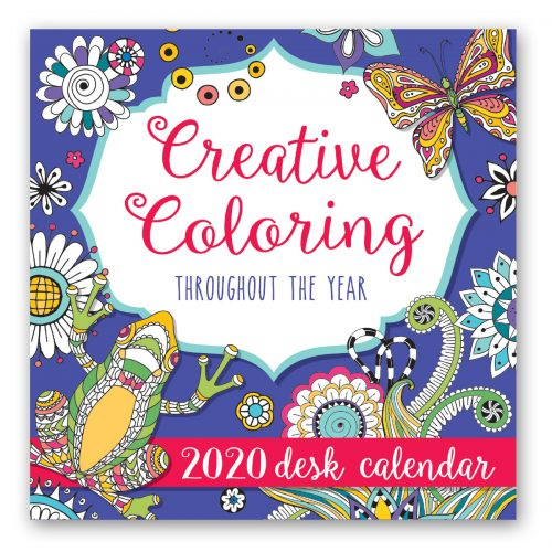 2020 Desk Calendar - Creative Coloring