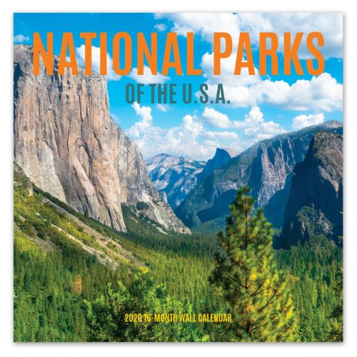National Parks Wall Calendar Front