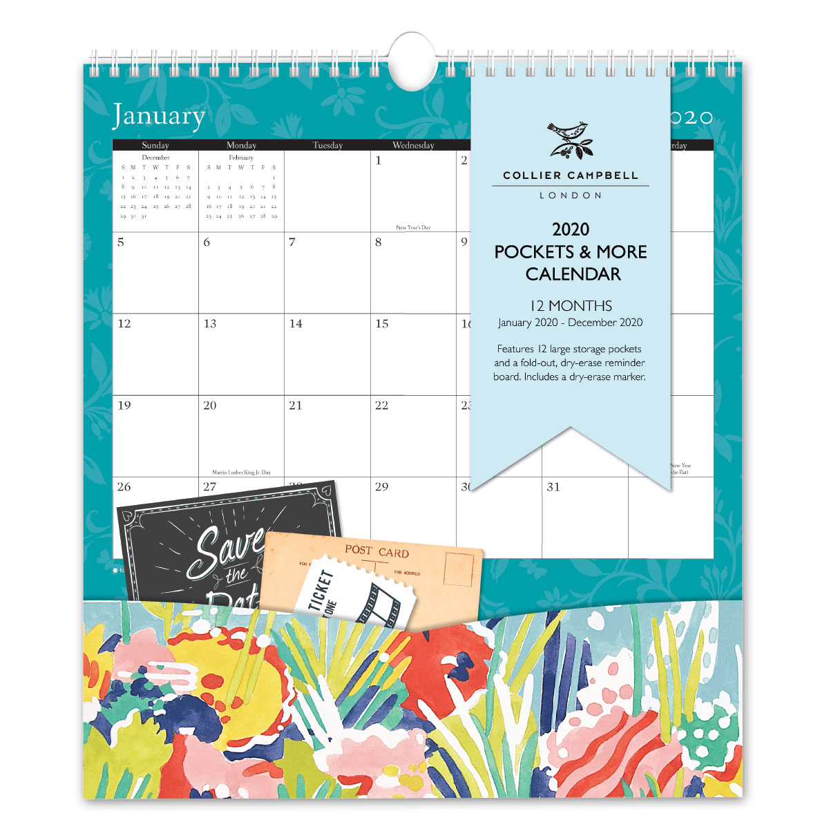 Collier Campbell Pockets & More Calendar Front