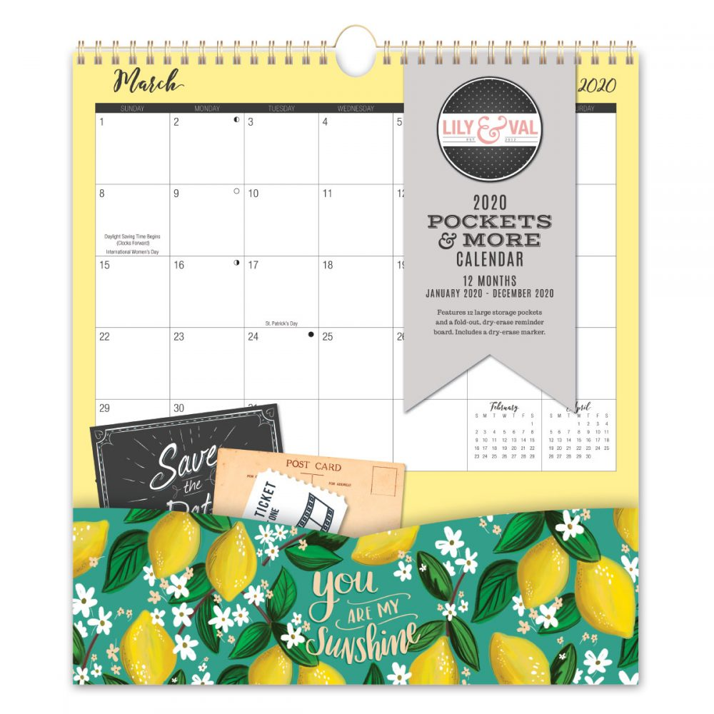 Lily & Val Pockets & More Calendar Front