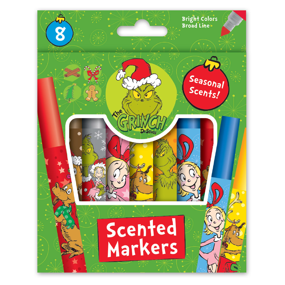 Grinch 8 Count Scented Markers