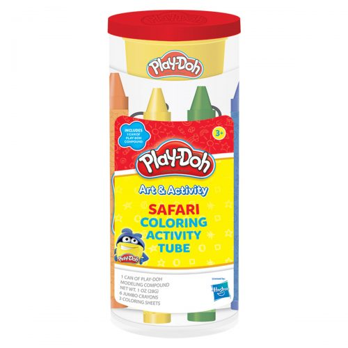 Play-Doh Safari Coloring Activity Tube