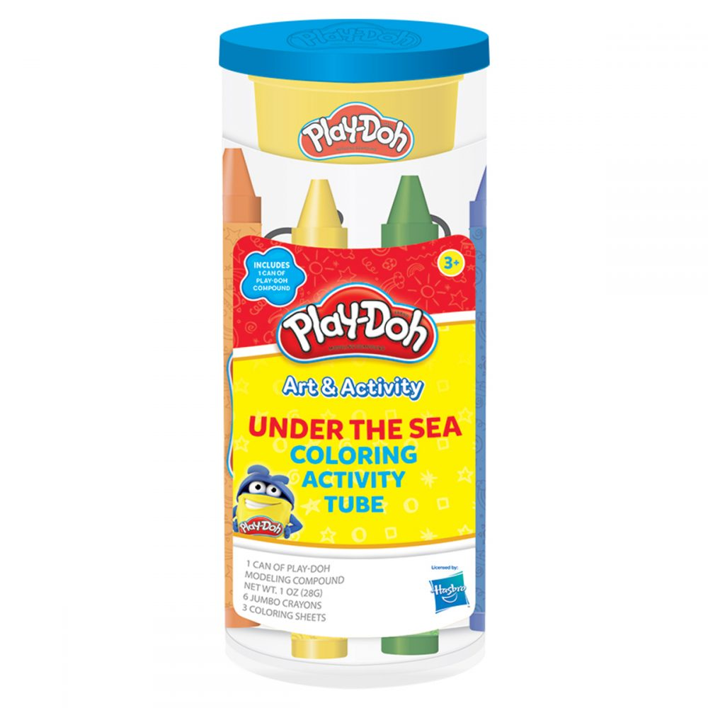 Play-Doh Under the Sea Coloring Activity Tube