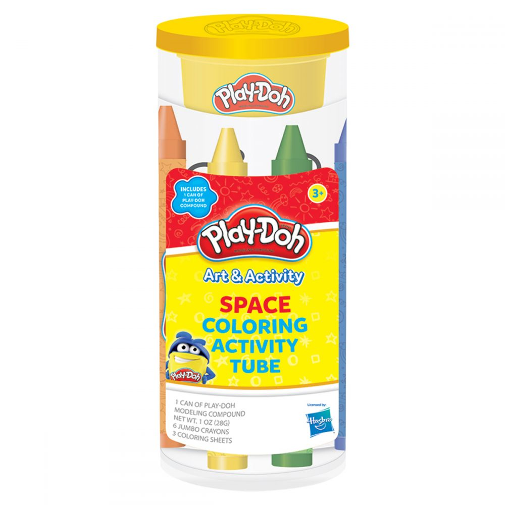 Play-Doh Space Coloring Activity Tube