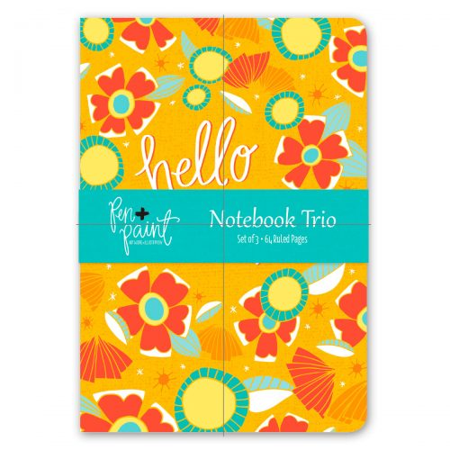 Pen and Paint Notebook Trio