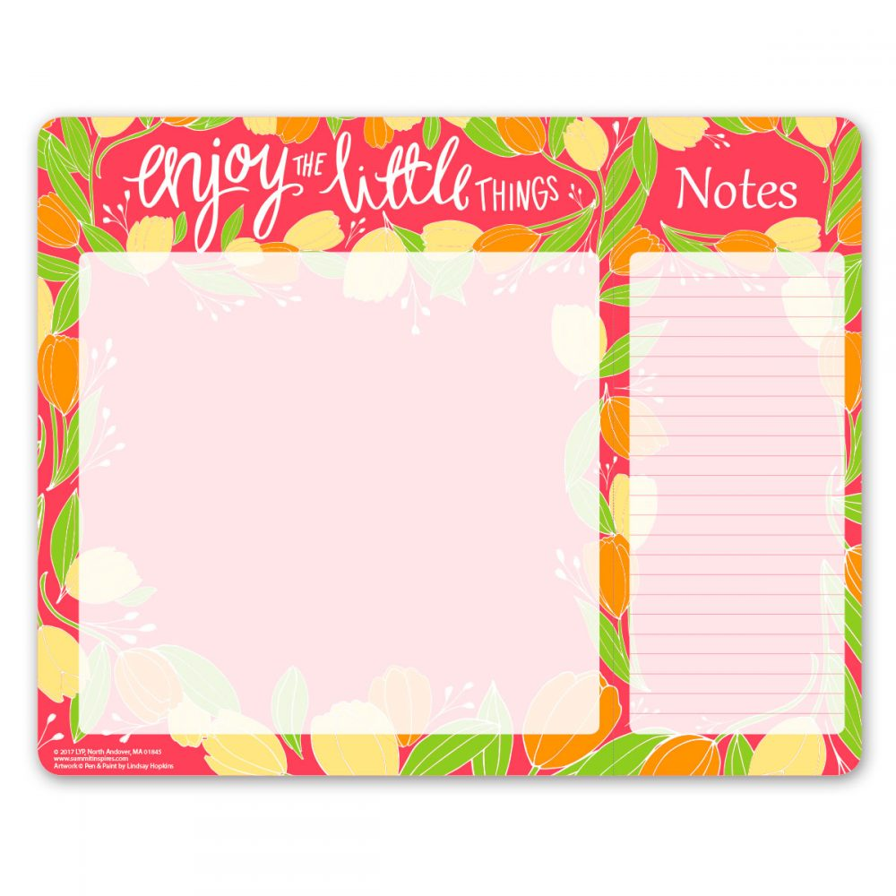 Pen and Paint Dual Note and List Pad