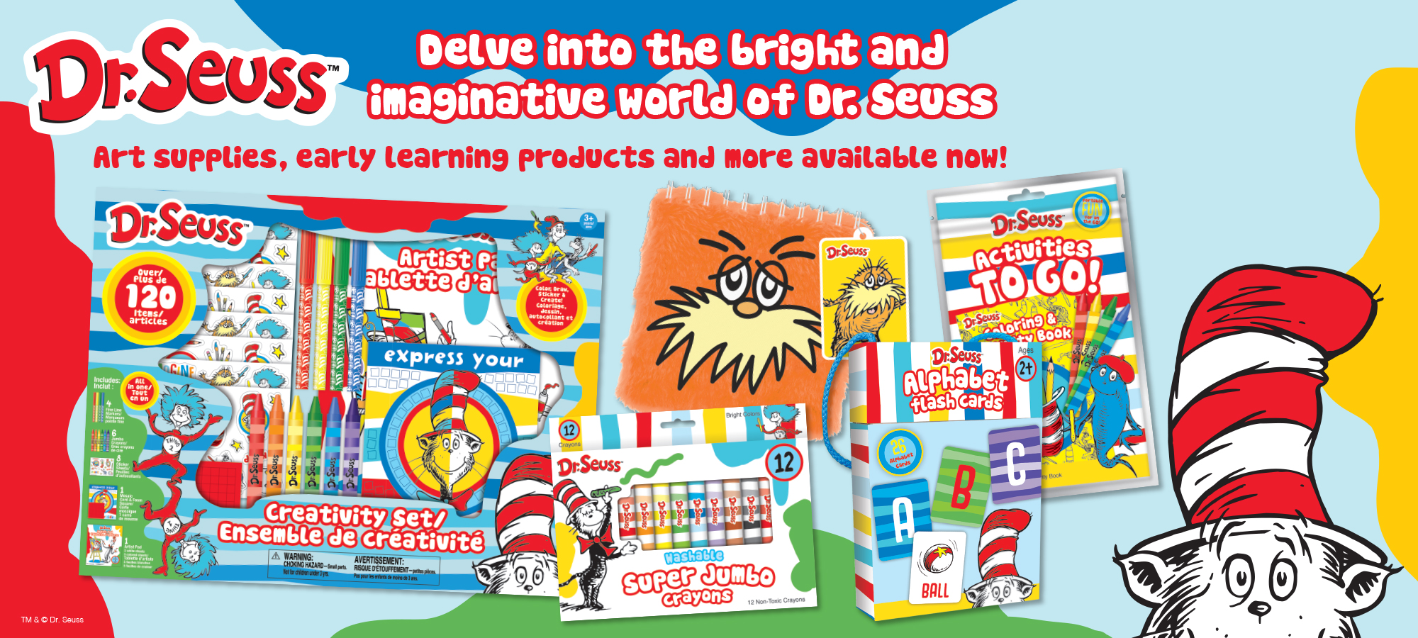 Dr. Seuss Product Announcement Banner