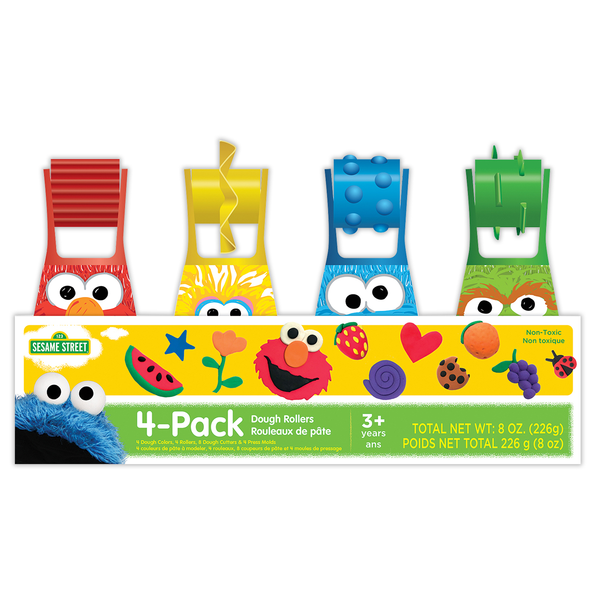 Sesame Street 4-Pack of Dough Rollers