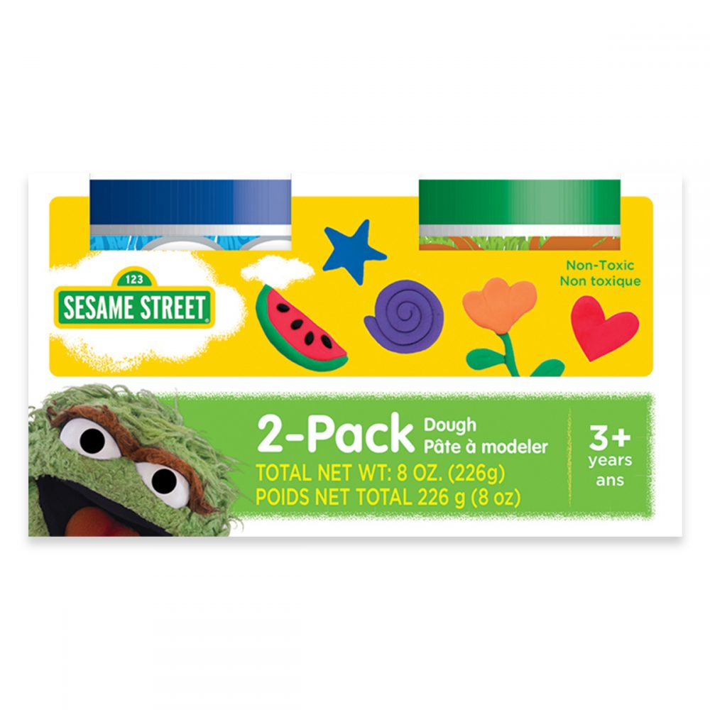 Sesame Street 2 Pack of Dough - Cookie Monster and Oscar