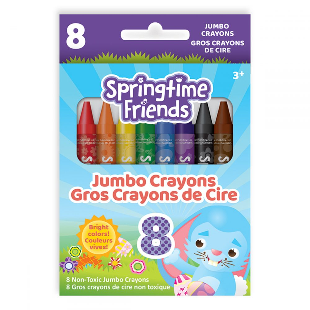 Springtime Friends 8-Count Jumbo Crayons