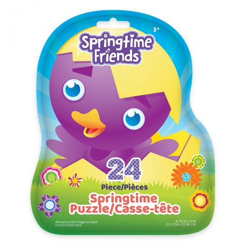 Springtime Friends Puzzle Bag - Purple Chick