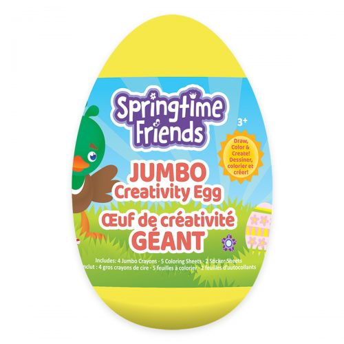 Springtime Friends Jumbo Creativity Egg - Yellow